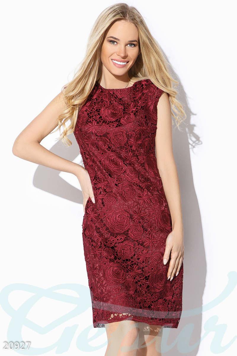 d8051d4db517326 Гипюровое платье-футляр - купить оптом и в розницу   GEPUR