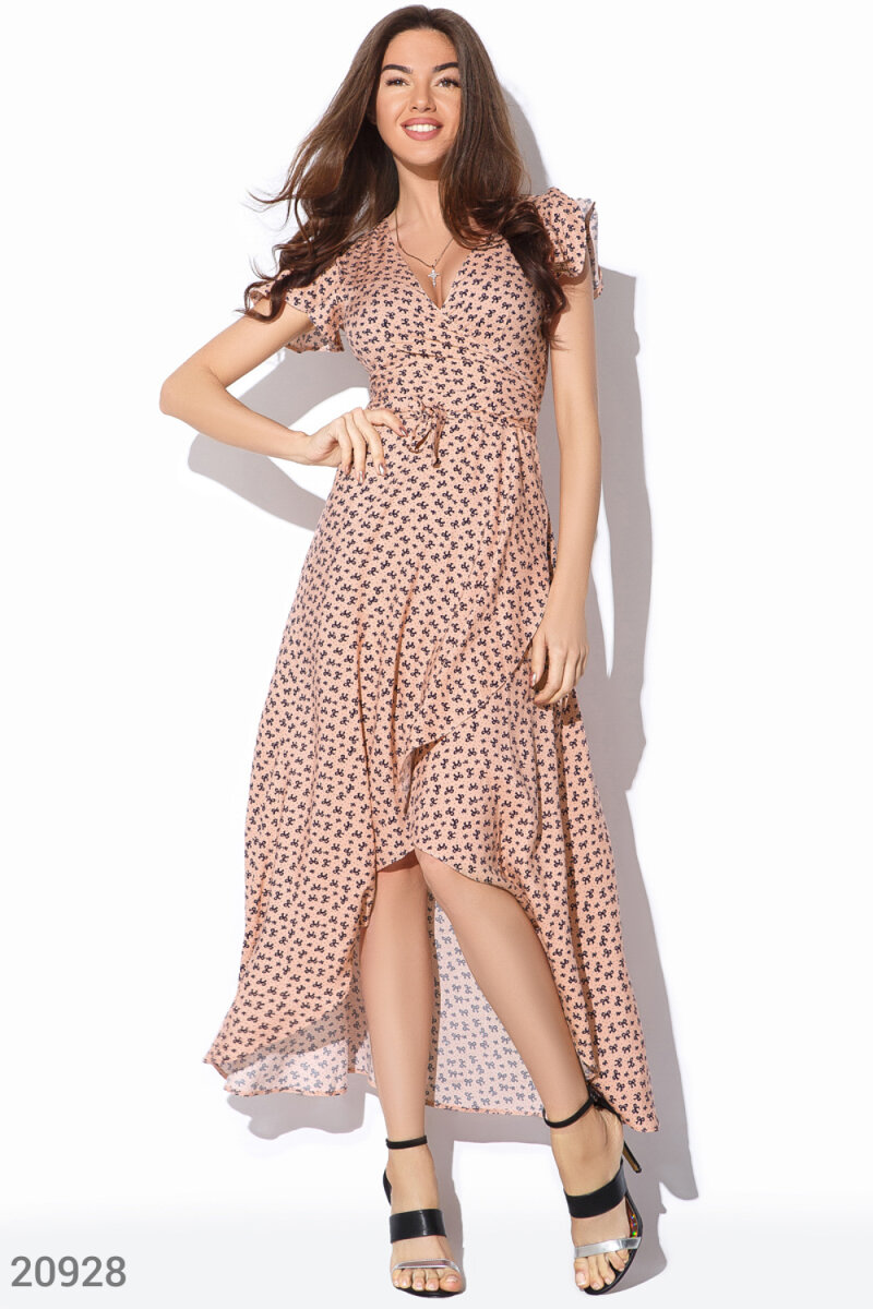 Summer wrap dress Pink 20928