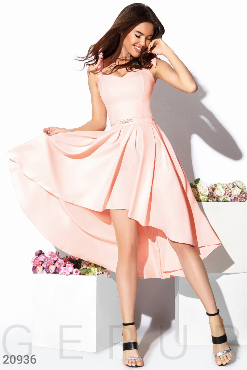 Dress with fluffy skirt Pink 20936