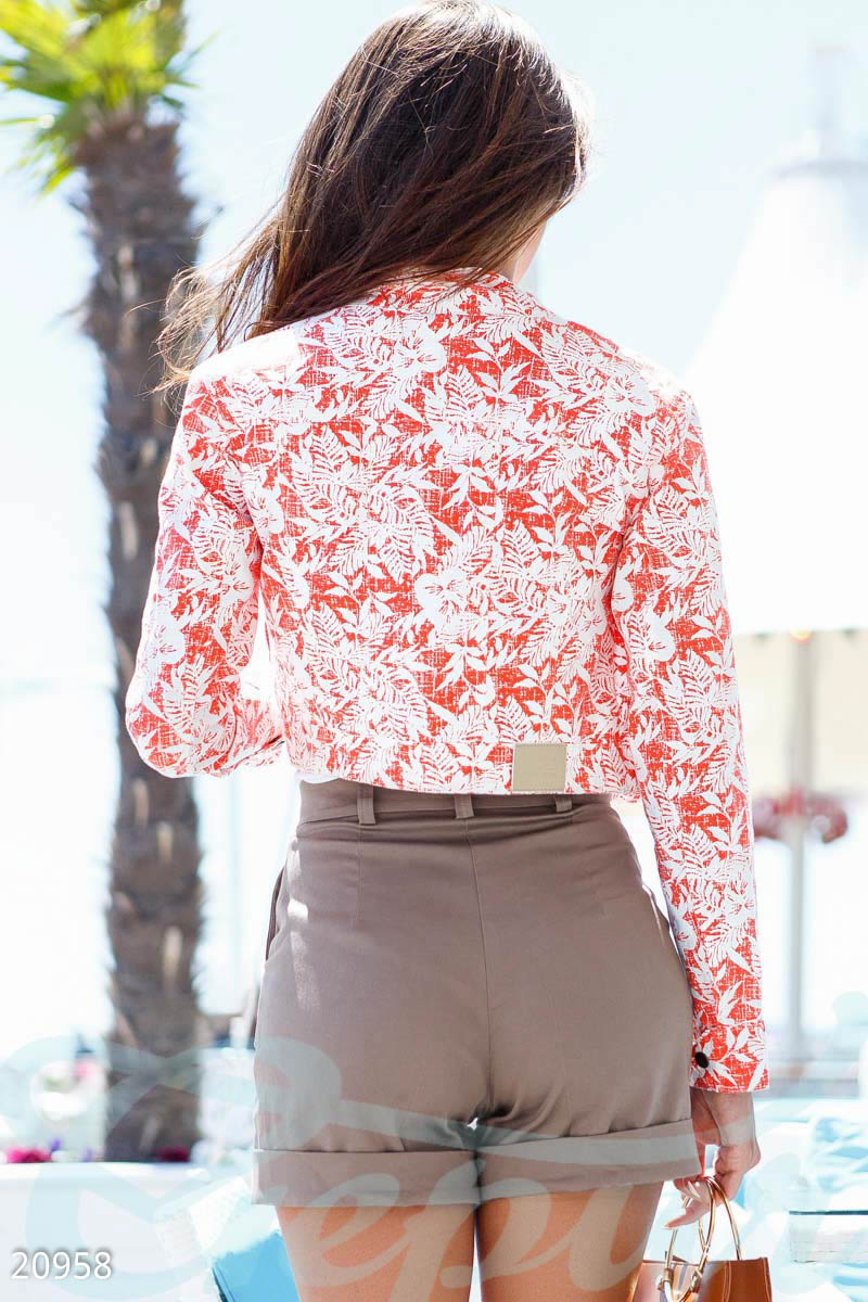 Short jacket with print Red 20958