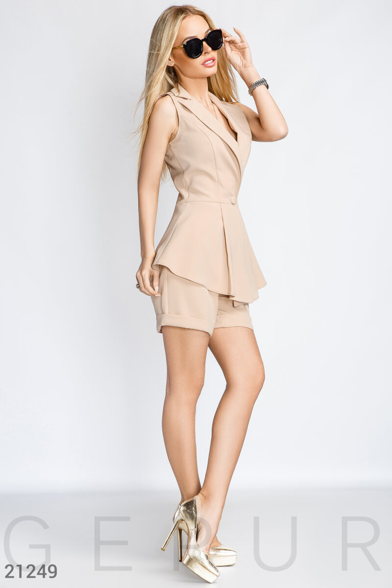 Summer two-piece suit Beige 21249