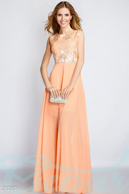 Long chiffon dress photo 1