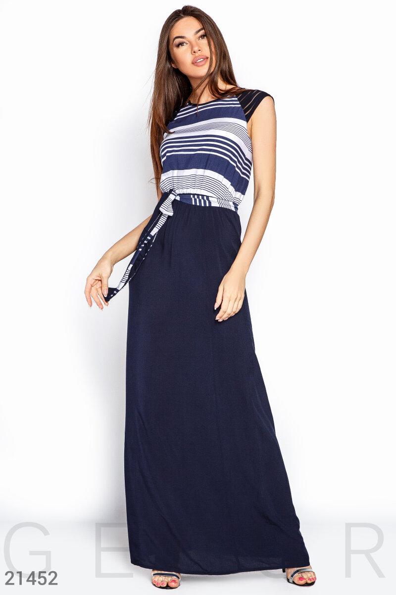 Летнее платье в полоску
