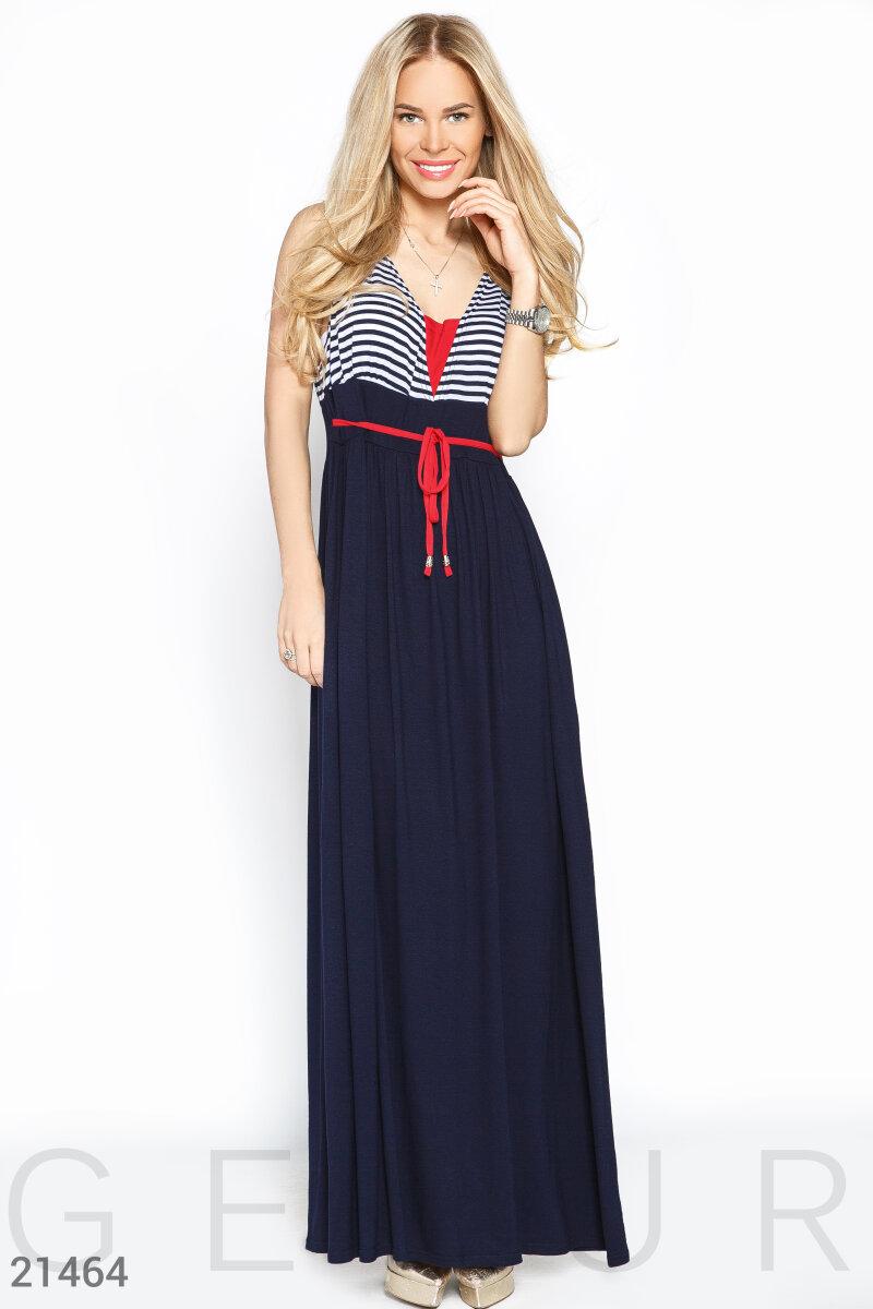 1c3eca9479a9c03 Платье макси полоска - купить оптом и в розницу   GEPUR