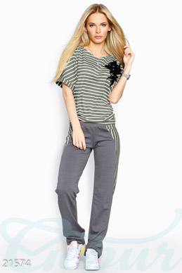 Two piece suit striped photo 1