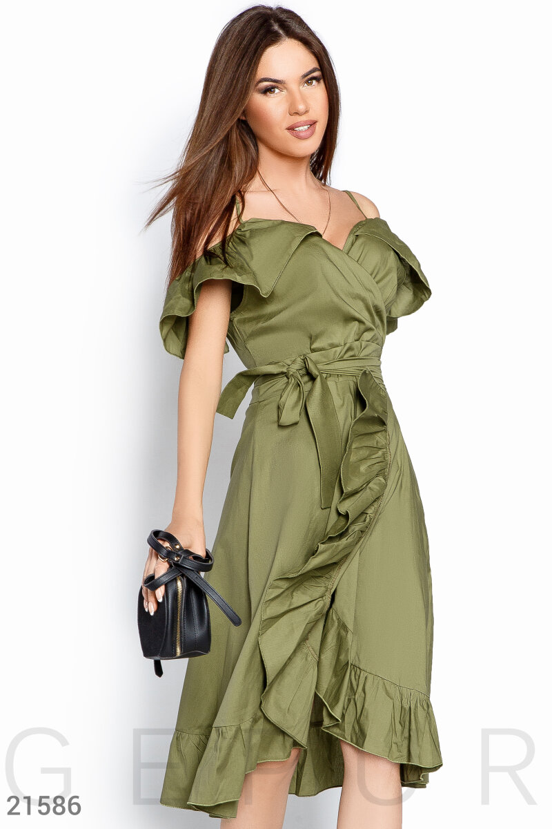 Sleeveless open shoulders Green 21586