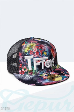 Baseball cap floral print photo 1