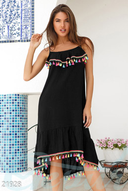 Sundress with POM-poms  photo 1