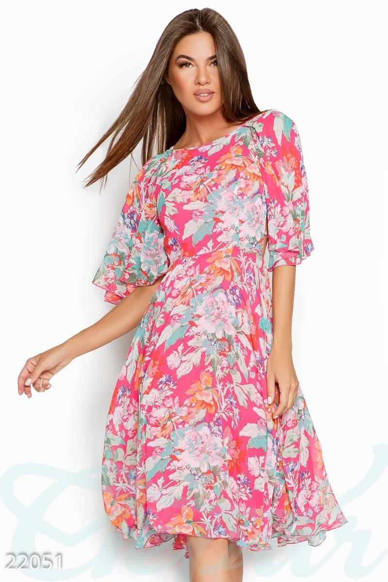 02bf47f3648 Шифоновое платье-миди - купить оптом и в розницу