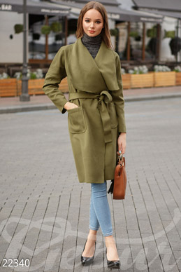 Oversize asymmetric coat photo 1