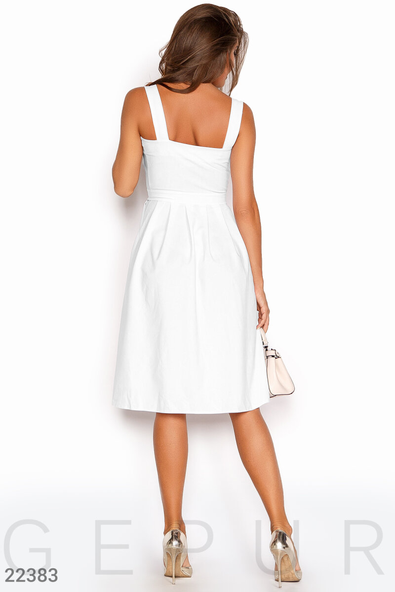 Business women's sundress White 22383