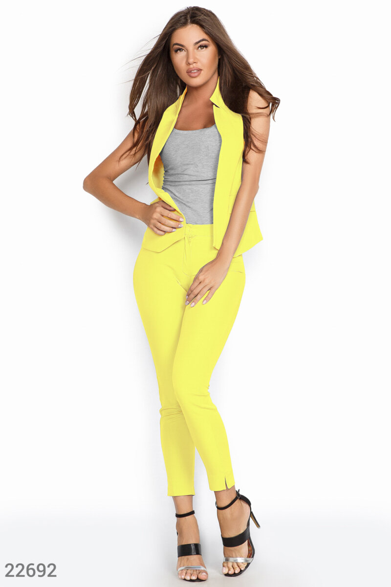 Two-piece suit Yellow 22692