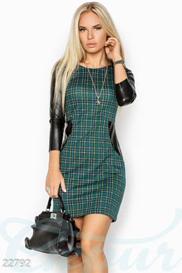 Combo plaid dress photo 1