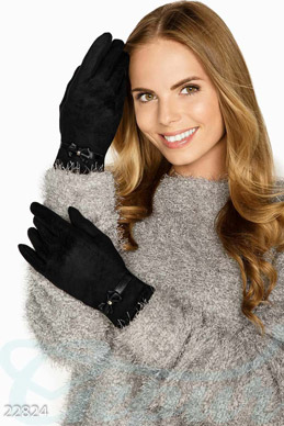 Suede winter gloves photo 1