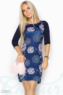 Bodycon floral dress photo 1
