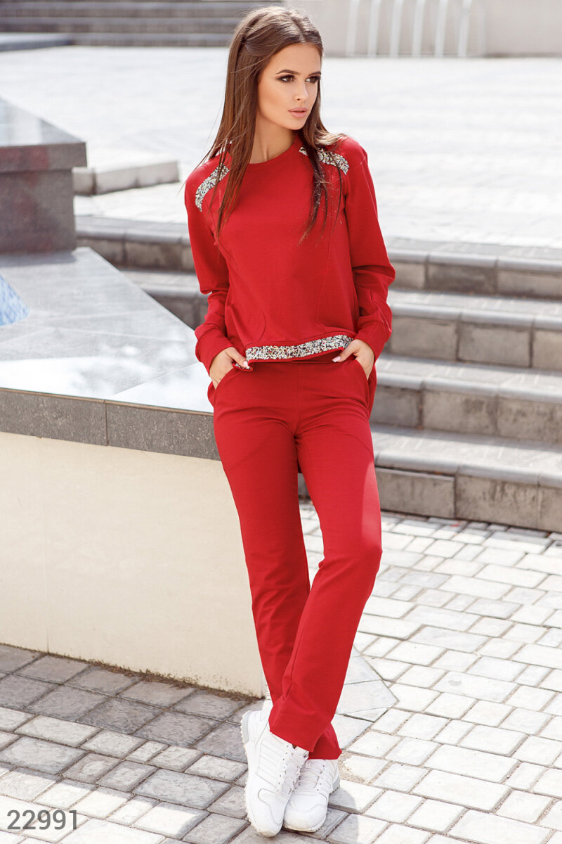 Decor casual suit Red 22991