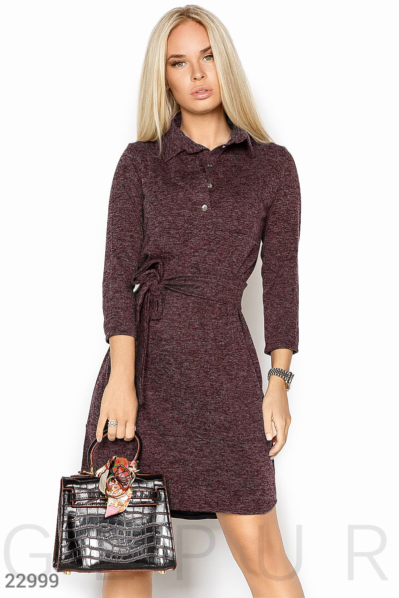 Ангоровое платье-рубашка