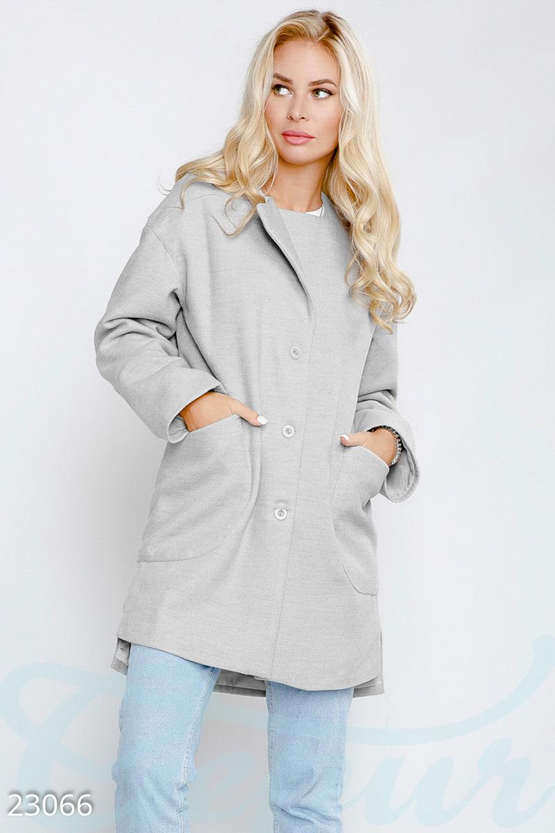 Простое женское пальто прямого кроя f9d46b0979b41