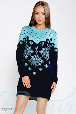 Warm knitted dress photo 1