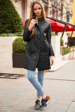 Slim quilted coat photo 1