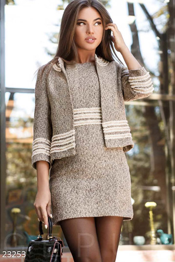Stylish boucle jacket photo 1