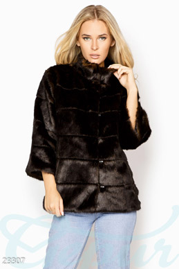 Women's eco fur coat photo 1