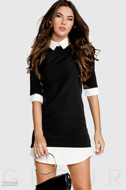 Contrast shirt dress photo 1