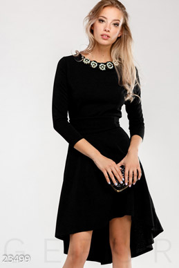 Asymmetric decorated dress  photo 1