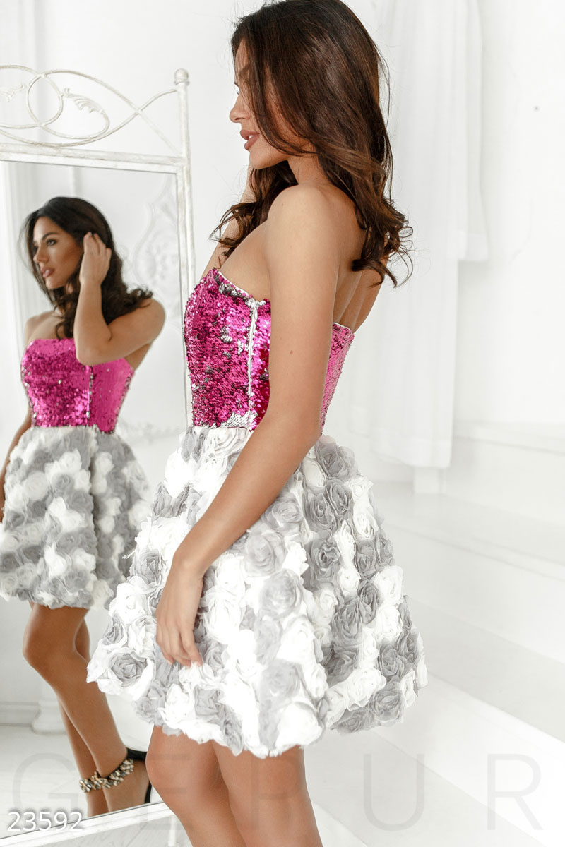Lush evening dress White 23592