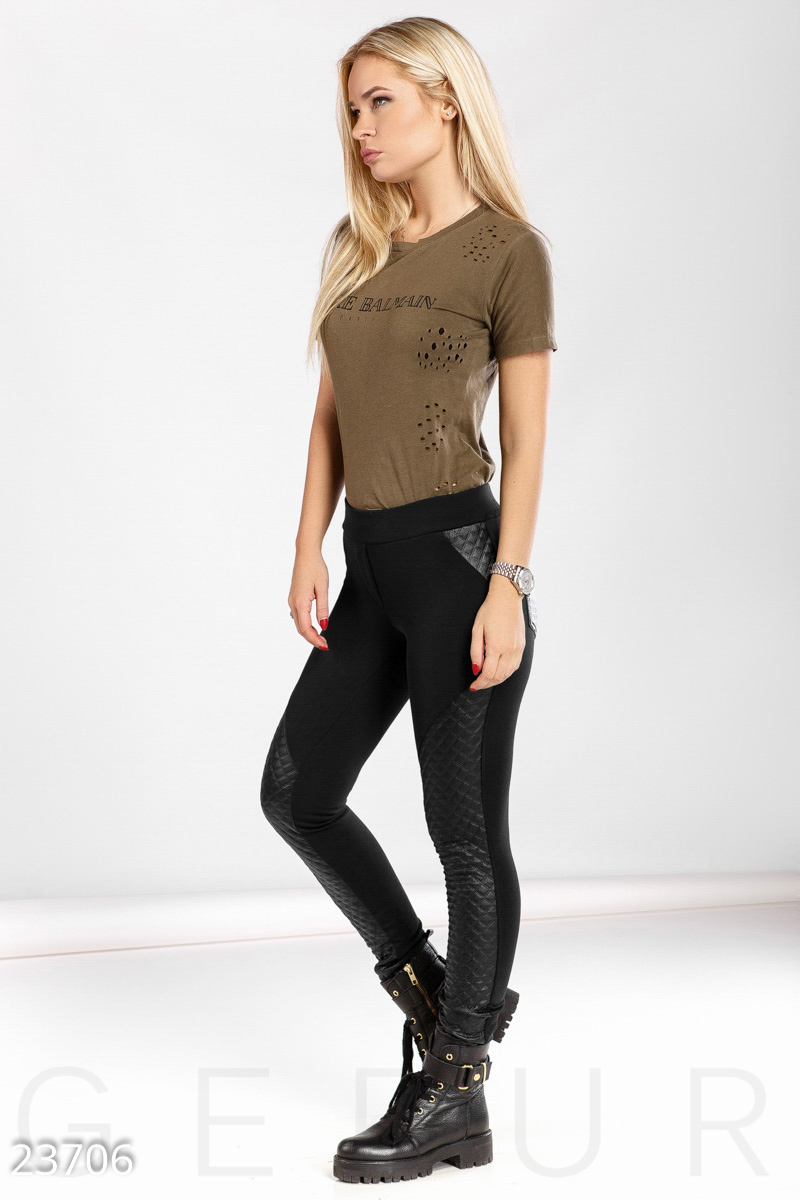 Leggings with inserts Black 23706