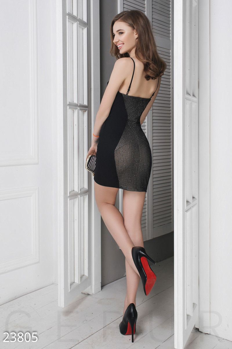 Dress with thin straps Black 23805