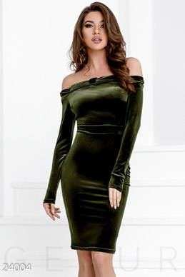 Bodycon velvet dress photo 1