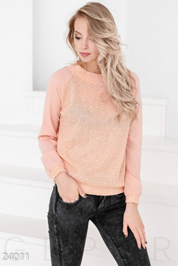 Knitted printed sweater photo 1