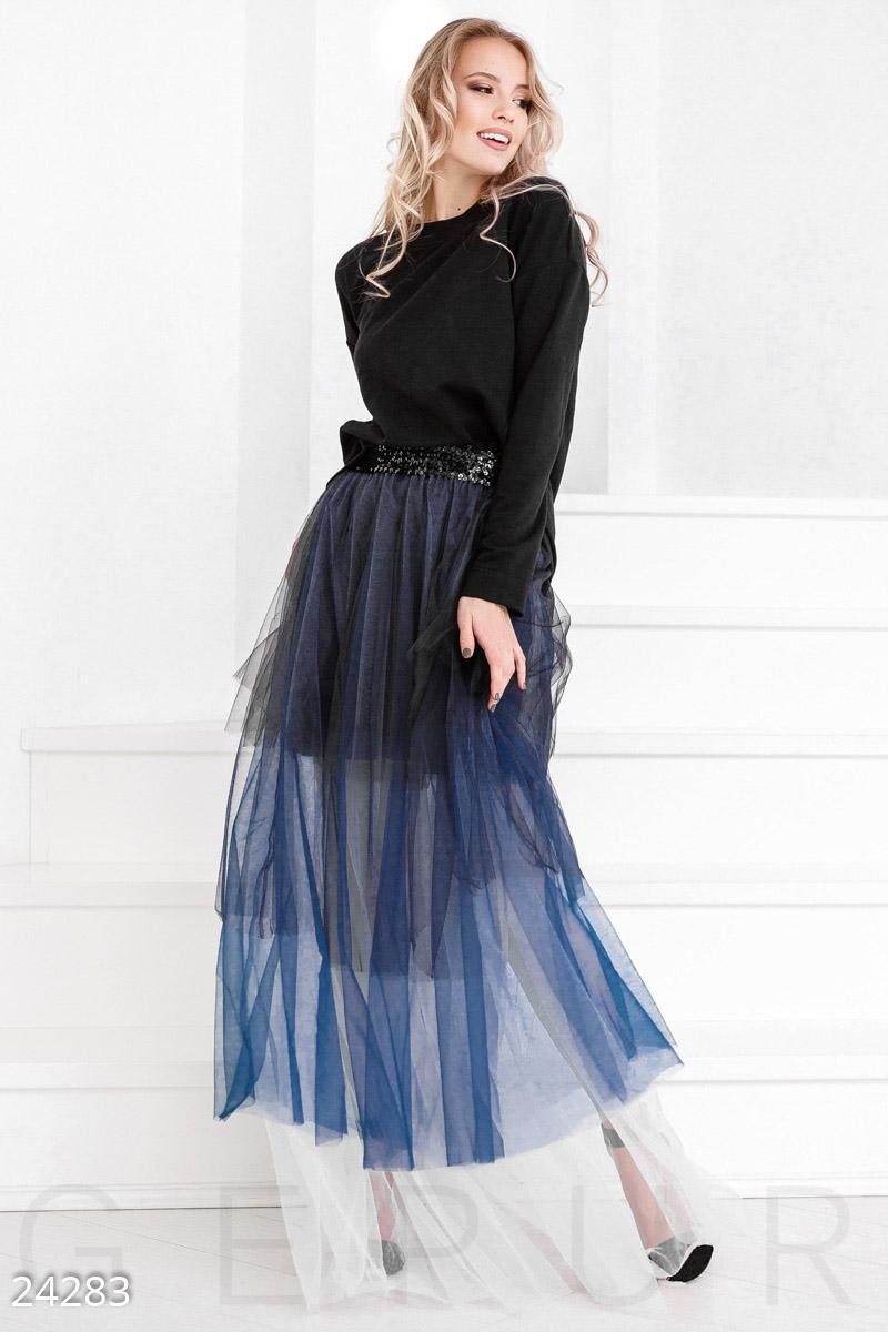 Фатиновая юбка-омбре