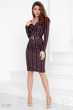 Knitted dress-tartan photo 1