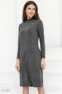 Straight knitted dress  photo 1
