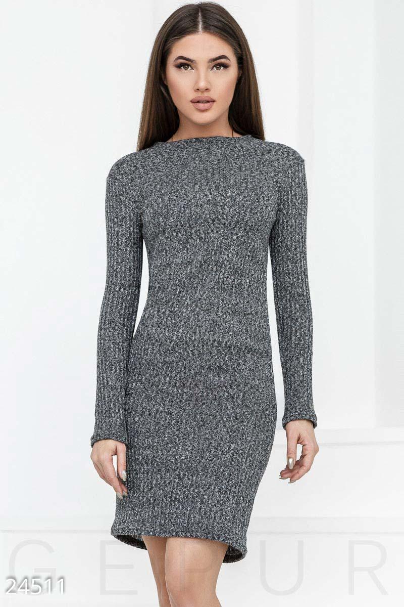 be77af9b4dd Теплое платье в рубчик - купить оптом и в розницу