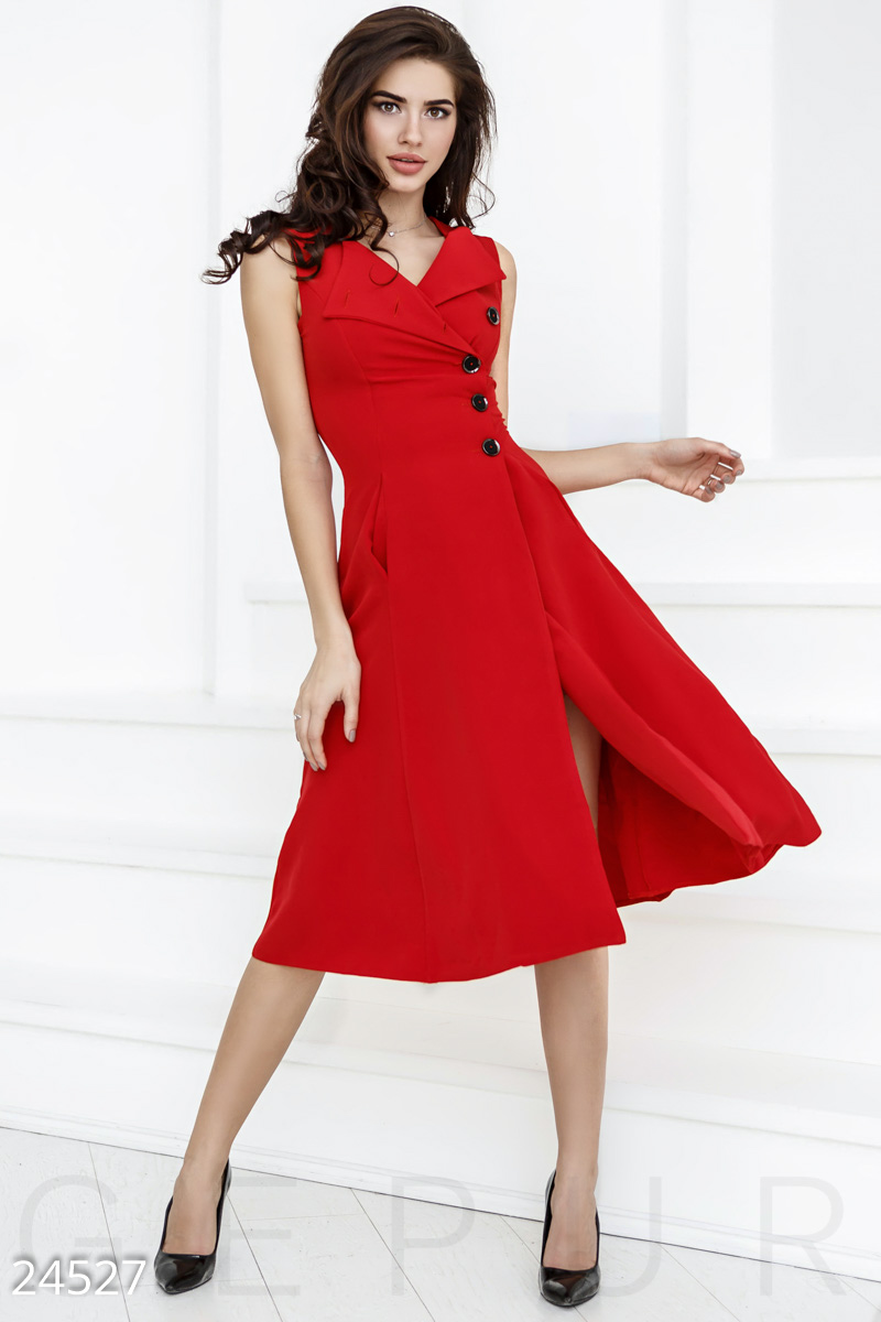 Spectacular dress A-line Red 24527