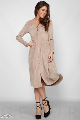 Вельветовое ретро платье  фото 1