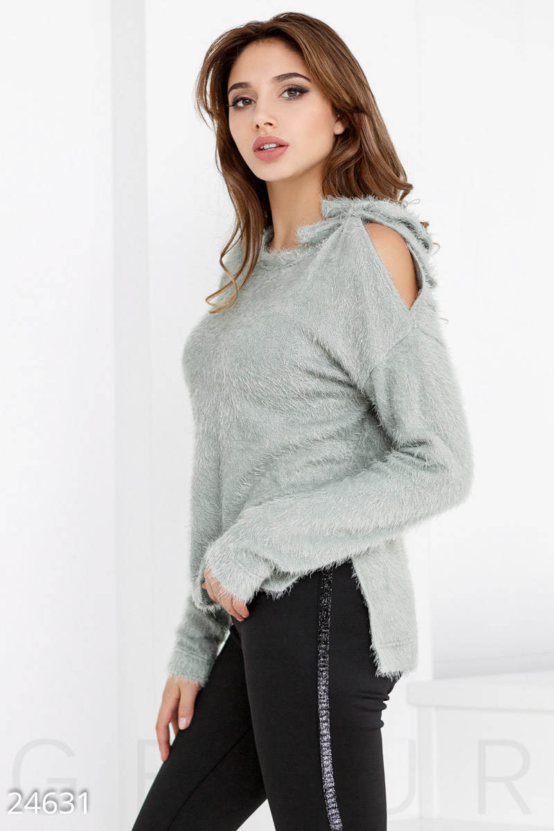 Soft knitted jumper Grey 24631