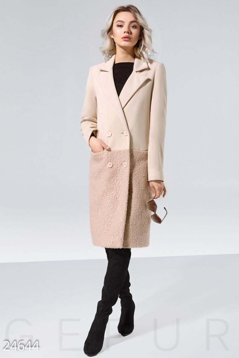 d7139304ad9d Комбинированное женское пальто