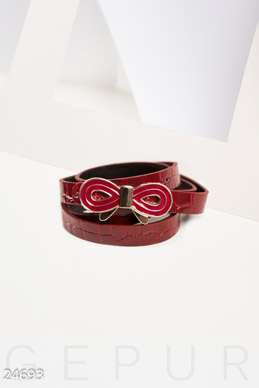 Lacquered women's strap  photo 1