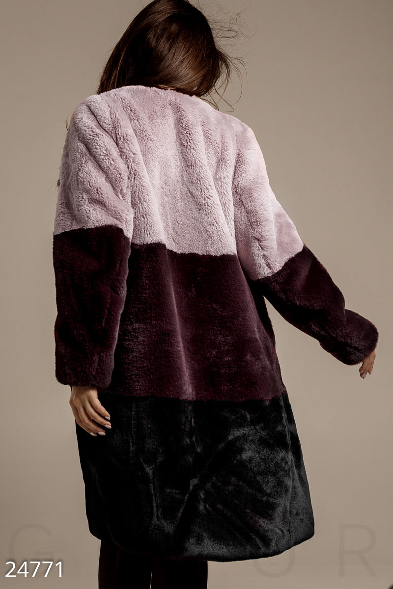 Fur coat Color Block