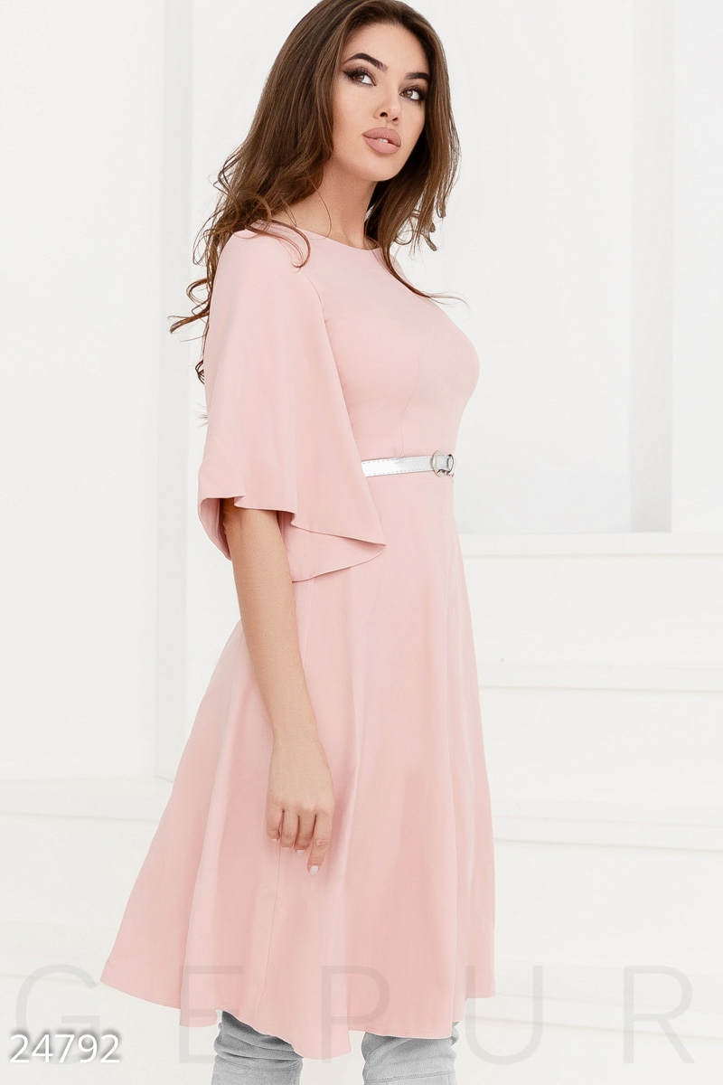 Gentle dress flared Pink 24792