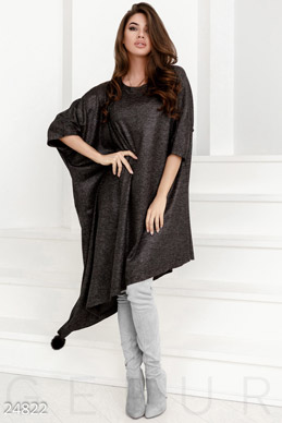 Asymmetric dress oversize photo 1