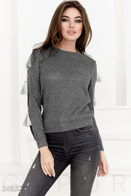 Jumper in ribbed  photo 1