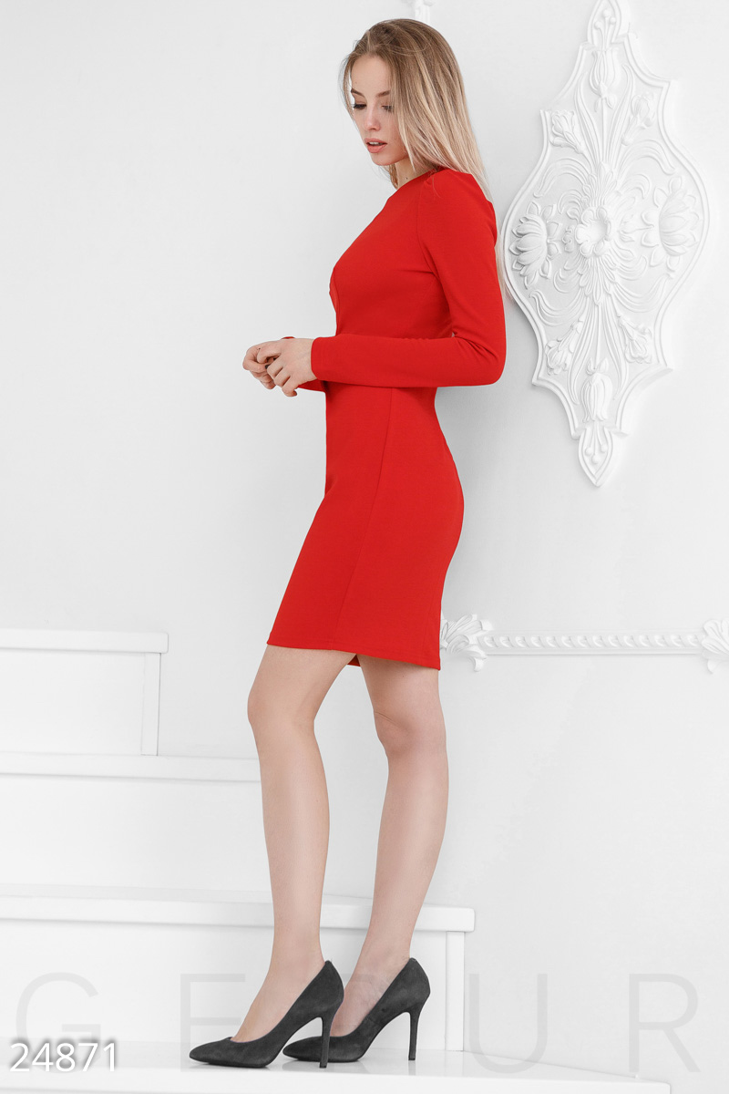 Knit sheath dress Red 24871