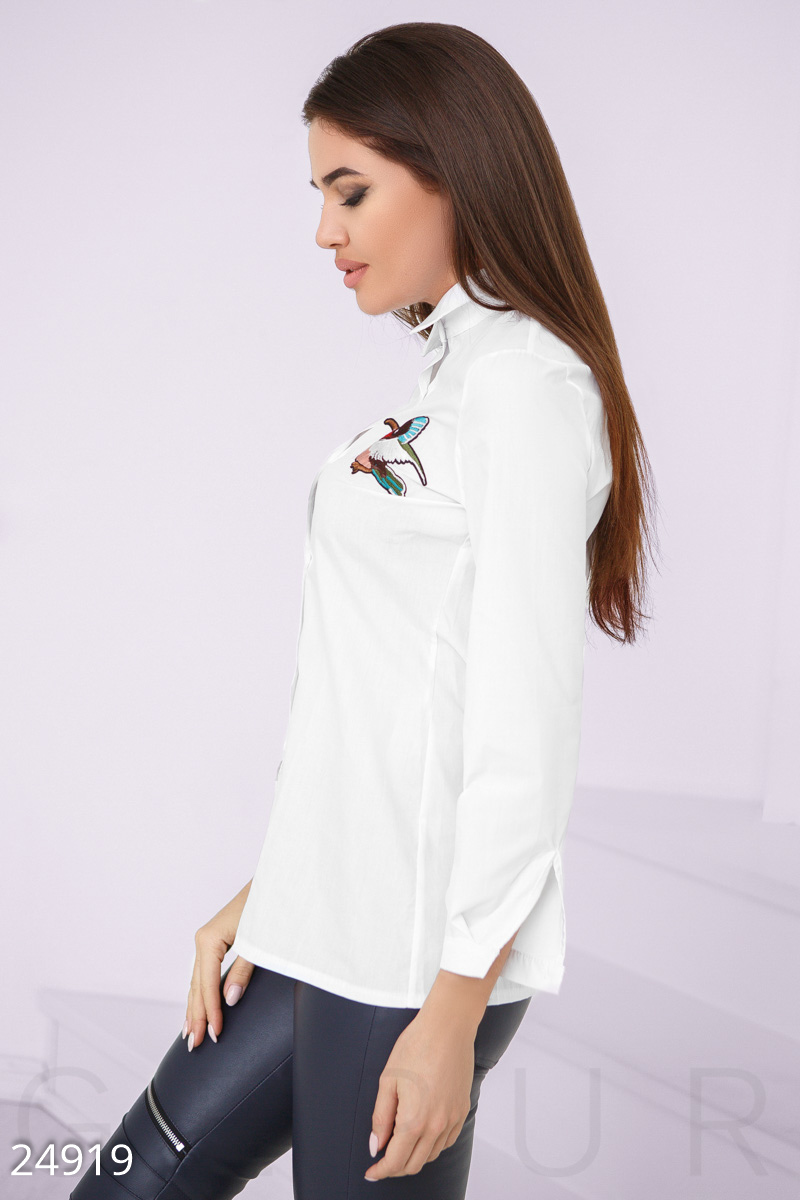 Shirt with stripe White 24919