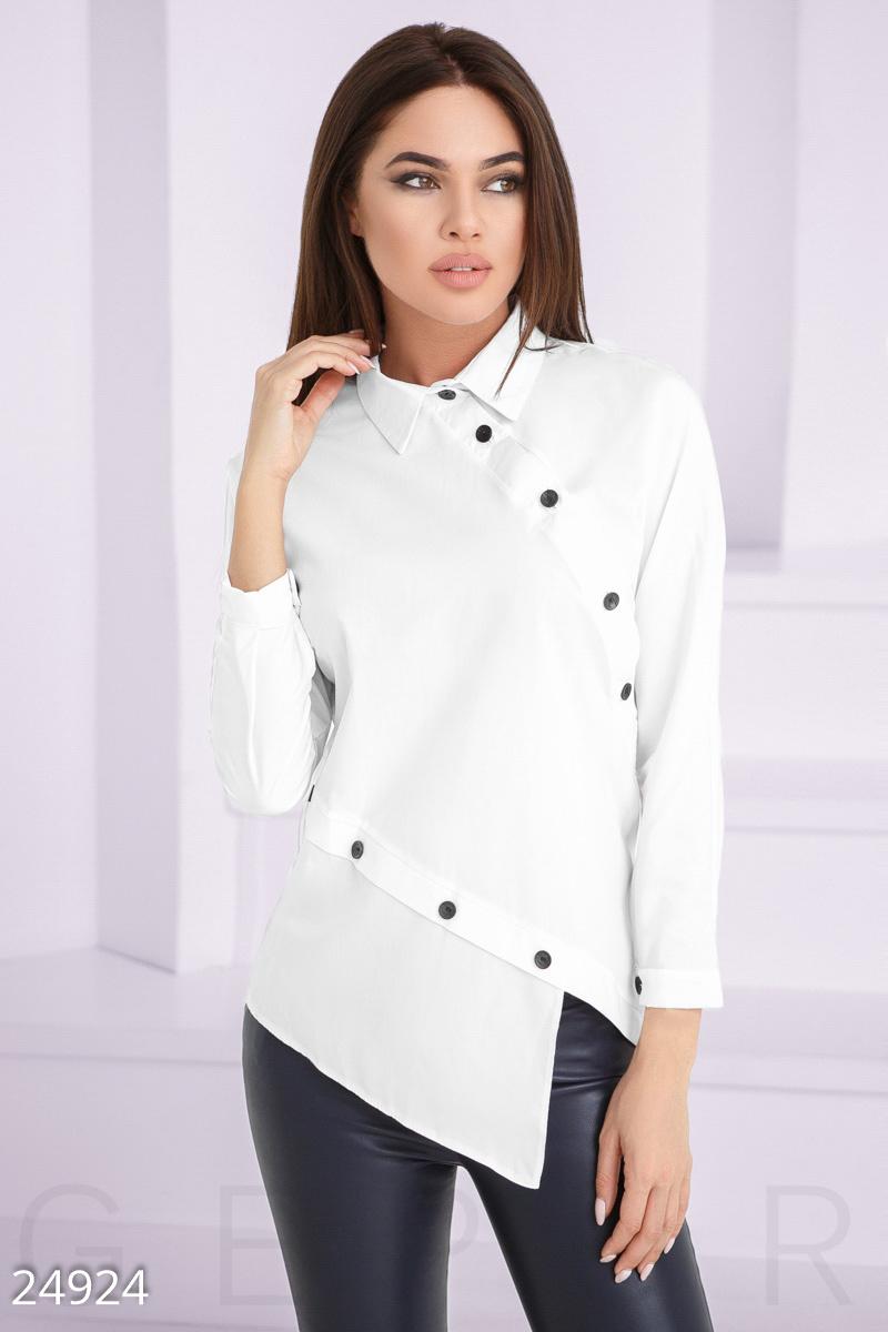 Асимметричная женская рубашка