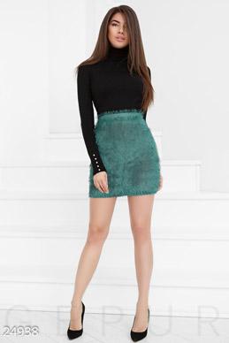 Стильная пушистая юбка фото 1